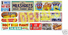 HO Scale Circus Sideshow Carnival Food & Beverage Signage Decals #4