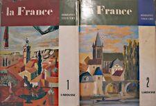 DANIEL FAUCHER encyclopedie la france 2 Tomes geographie-tourisme 1951 LAROUSSE+