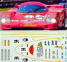 Porsche 956 Bob Jane #34 Le Mans 1984 1:24 Decal