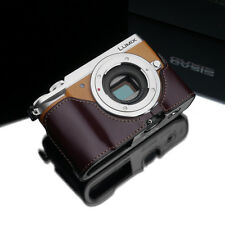 GARIZ Leather Half Case Panasonic Lumix GX85 GX80 GX7ii Brown XS-CHGX85BR