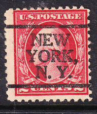 USA 1917 Washington - 2c Carmine   P11 - New York NY