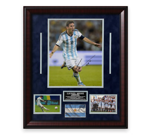 Lionel Messi Signed Autographed Photo Framed to 20x24 Argentina COPA Icons