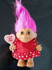 Russ Troll Doll - I Love Your Hugs #18404, complete with sign, outfit and tag
