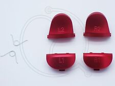 Aluminum Alloy L2 R2 trigger/s L1 R1 buttons springs PS4 001 011 020 Red Metal