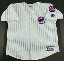 Vintage Starter MLB Chicago Cubs Pinstripe Baseball Jersey Size Womens XL