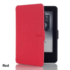 Fashion Magnetic Wake /sleep PU Leather Case Cover for Amazon Kindle Paperwhite Red