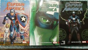 Captain America: Steve Rogers Volume #1, 2, 3 Graphic Novel SC Excellent Cond.