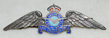 WWII RCAF Royal Canadian Air Force Silver & Enamel Sweetheart Pin Badge