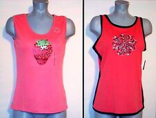 2~NWT $46 MOUNTAIN LAKE PULLOVER DECORATIVE TANK TOPS M