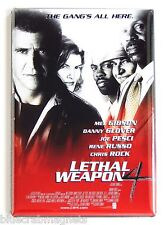 Lethal Weapon 4 FRIDGE MAGNET (2 x 3 inches) movie poster mel gibson
