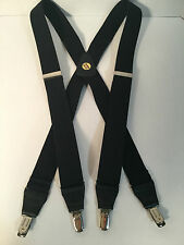 "New, Men's, Black  Bostonian, XL,1.5"", Adj. Suspenders / Braces, Made in USA"