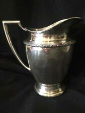 """Silver Plate Wm Rogers WATER PITCHER #5717 HARVEST Pattern 8 1/4"""" high"""
