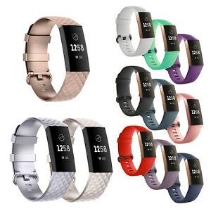 Armband Ersatz Fitbit Charge 3 4 Fitness Tracker Smartwatch Sport Uhrenarmband