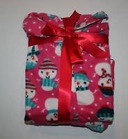 New Gymboree Girls Holiday Pink Snowman Fleece 2 Piece PJ's NWT 2T 4 Pajamas