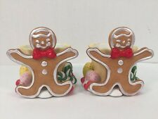 Party Lite Gingerbread Votive Candle Holder P7902 Christmas Lot of 2