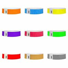 """3/4"""" Tyvek® Wristbands - 500 Count - Solid Colors"""