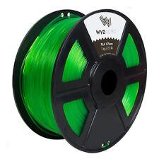 Translucent Green PLA 1.75mm WYZworks 3D Printer Premium Filament 1kg/2.2lb