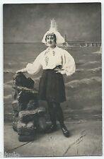 BM463 Carte Photo vintage card RPPC Femme Folklore costume les Sables d'olonne
