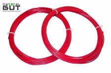 4 Sets N. G. W. 16G V5 100% Natural Panza Raqueta de Tenis Cuerdas Rojo Resina