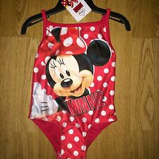 BNWT Swimsuit Swimming Costume Girls Minnie Mouse Red Swimwear Age 3-4 yrs