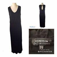 Ladies Warehouse Definitives Black Summer Maxi Dress UK Size 12