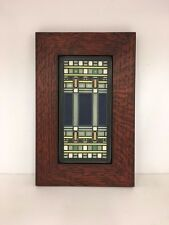 Motawi Martin House Art Tile in a Family Woodworks Oak Park Arts & Crafts Frame