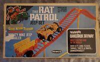 "1967 ""THE RAT PATROL"" Vintage REMCO JEEP TREACHEROUS CAMELBACK SKYWAY SET In BOX"