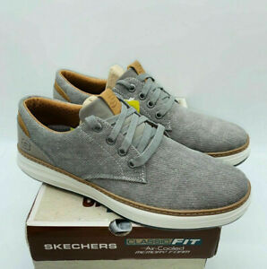 Skechers Men's Moreno Ederson Lace Up Sneaker Shoes - Taupe Canvas