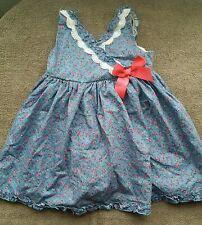 maggie zoe summer  dress with underwear blue flowers girl 12-18 months BNWOT