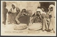 Postcard Middle East Palestine ethnic women Sifting Grain early RP