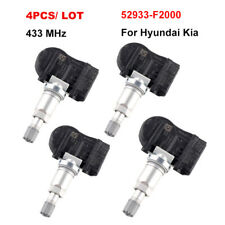 4x TPMS OEM 52933-F2000 Tire Pressure Sensor 433MHz For Hyundai Elantra Kia Rio
