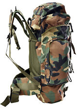 US M81 Woodland Camo 56 Lts Hiking Mountaineering Military Backpack/Camping