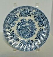 "Vintage MYOTT MEAKIN TABLEWARE TONQUIN BLUE England set of 4 Bread Plates 7"""