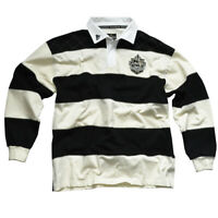 Rugby Shirt Guinness  Cream and Black Stripes, Cotton