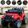 Red 12V 3 Speed Kids Ride on Car Electric Battery Wheel Remote Control Jeep US