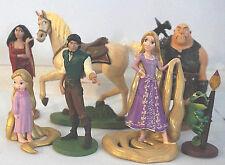 Disney Tangled Rapunzel Pascal 7 Piece Figurine Set Cake Topper - Loose -