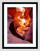 NATURE ANTELOPE CANYON ROCK EROSION ARIZONA FRAMED PRINT B12X4754