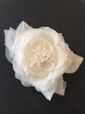 Silk organza ivory sheer Rose flower / artificial flower / bridal wedding flower