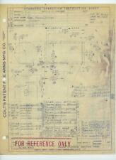Wwii 1943 Colt Patent Fire Arms Mfg Company Original Factory Drawing Hartford Ct