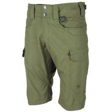 MFH Pantalones Cortos Bermudas Hombre Militar Rip Stop Black ,Aceitunas, Coyote