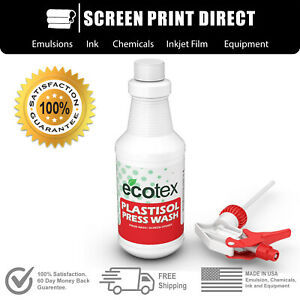 Ecotex® Plastisol Ink Cleaner - On Press Screen Opener / Ink Degradent - 32oz