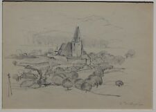 Emil Beischläger, Spitz an der Donau, Wachau, Zeichnung, signiert