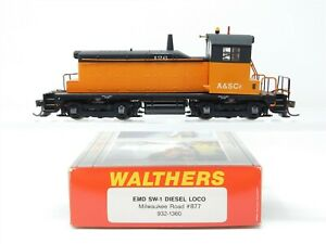 HO Scale Walthers 932-1360 MILW Milwaukee Road SW1 Diesel Custom Does Not Run