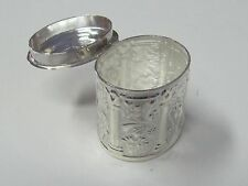 OVAL STERLING SILVER THIMBLE HOLDER/PILL  CASE - NEW