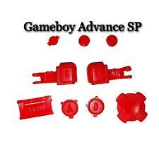 Nouveau! Gameboy Advance GBA Sp Buttons Boutons Pièce de Rechange Échange Rouge