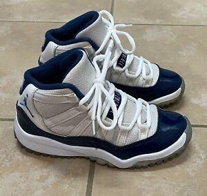 Nike Air Jordan 11 XI Retro Win Like 82 Blue White 378038-123 Pre School 13.5C