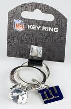 New York Giants Jumbo Bling Keychain Key Ring - GIANT Faux Diamond - Great Gift