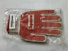 Brand New Supreme Grip Work Glove Gardening OS Red White SS18A18 Deadstock