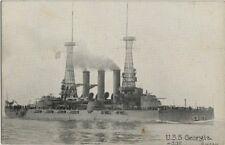 Old Postcard - Battleship U.S.S. Georgia