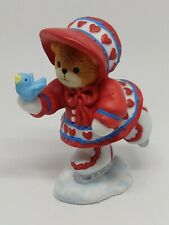 Vintage Lucy & Me Bear-Enesco-1998 Red Heart Ice Skating Girl-J205